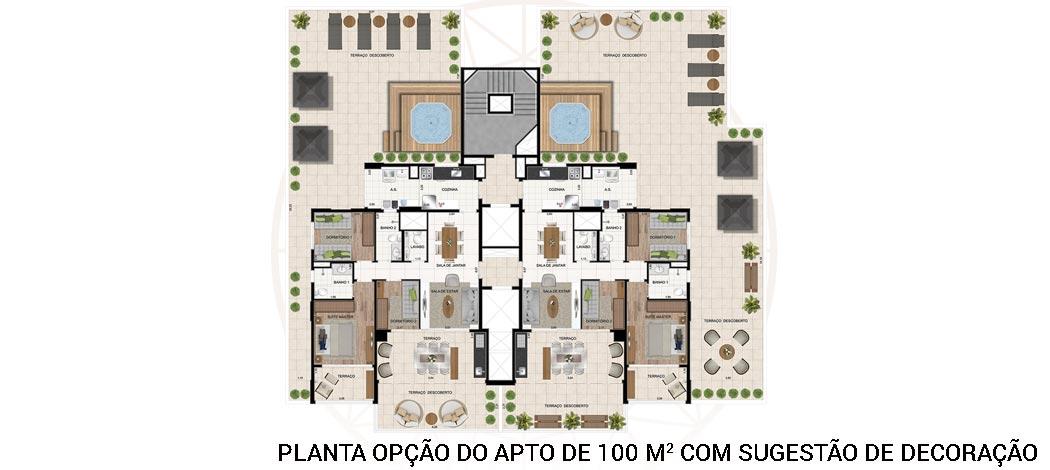 Planta opção - Legittimo Vila Romana