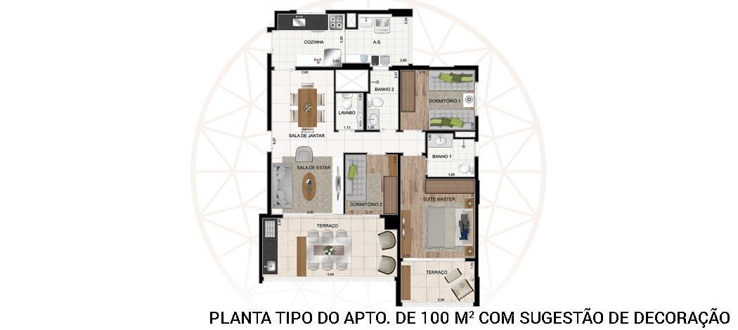 Planta Tipo - Legittimo Vila Romana