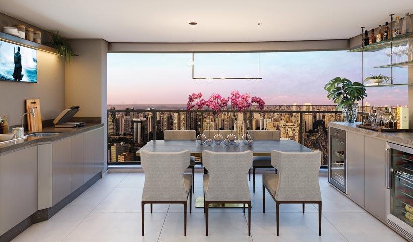 air brooklin – terraço do apto. de 2 suítes. com living ampliado tipo 81 m² e sugestão de decoração - final 2