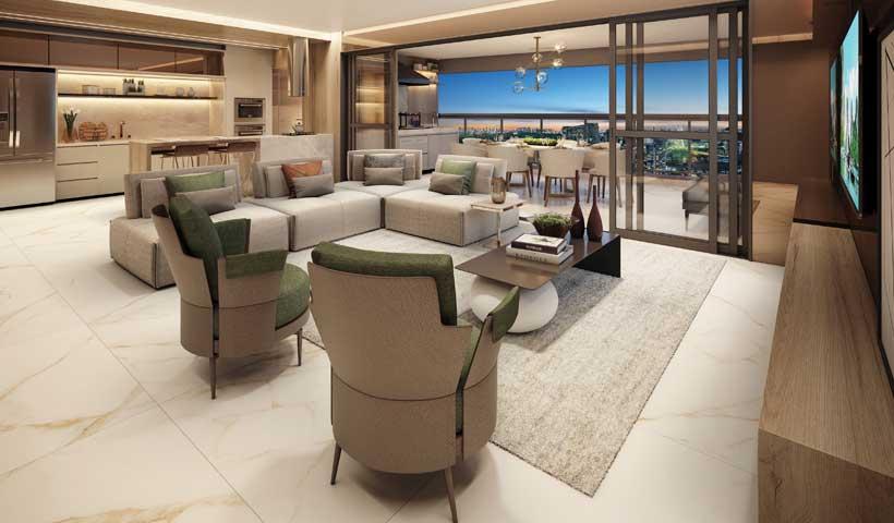 Arkadio - Living do Apto. de 142 m²
