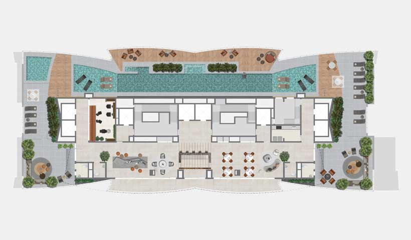 Arkadio - Planta 34º Pavimento Rooftop