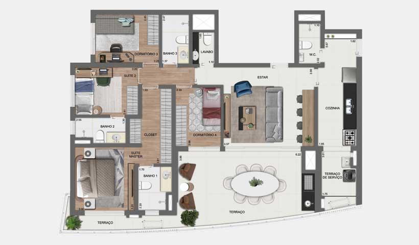 Arkadio – Planta Tipo 142 m²