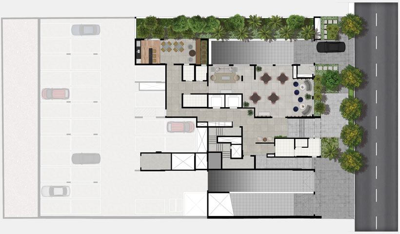 Artis Jardim Prudência – Implantação térreo