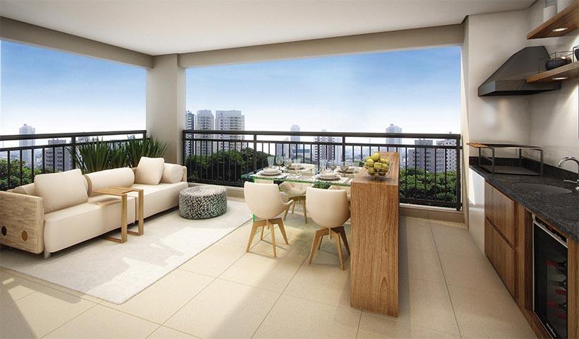 Brasiliano - Terraço de 63 m²