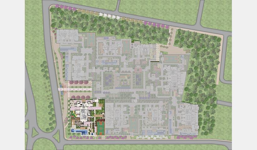 Alameda – Fotomontagem da região com implantação