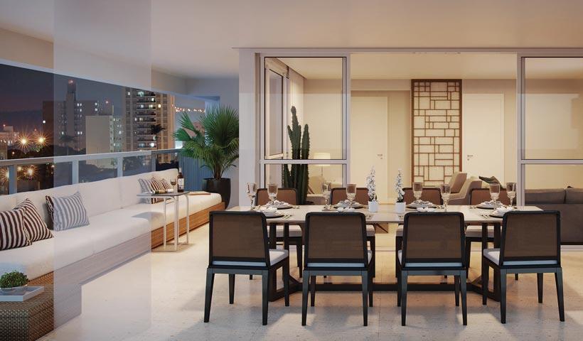 Diogo Ibirapuera – Terraço do apto. de 170 m²