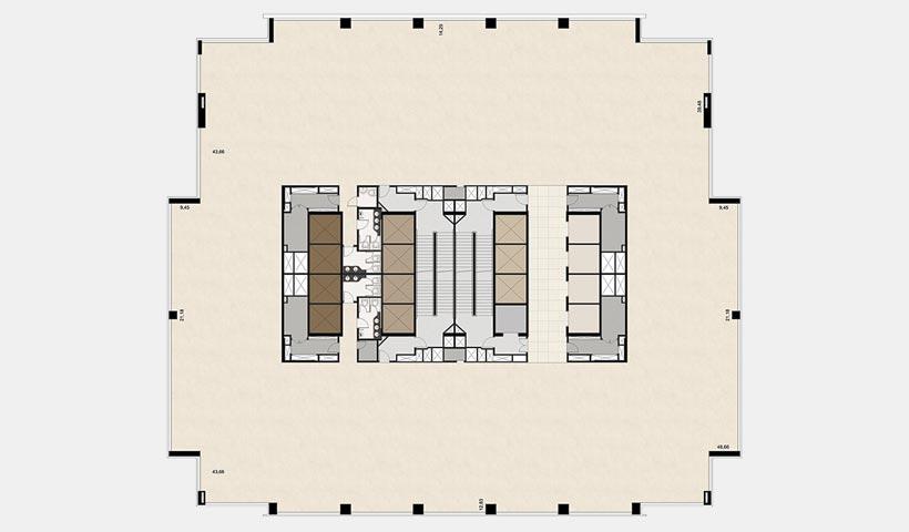 EZ Towers - Planta tipo 18º pavimento
