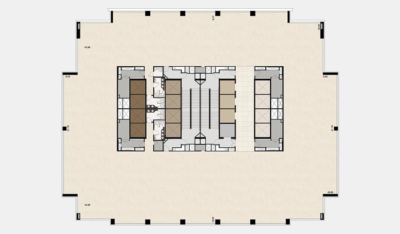 EZ Towers – Planta tipo 6º pavimento
