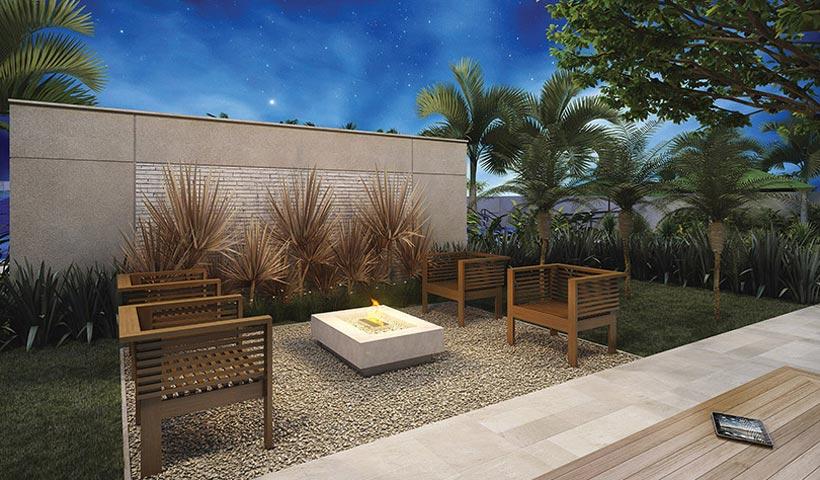 Gran Quadra Giardino – Praça da lareira
