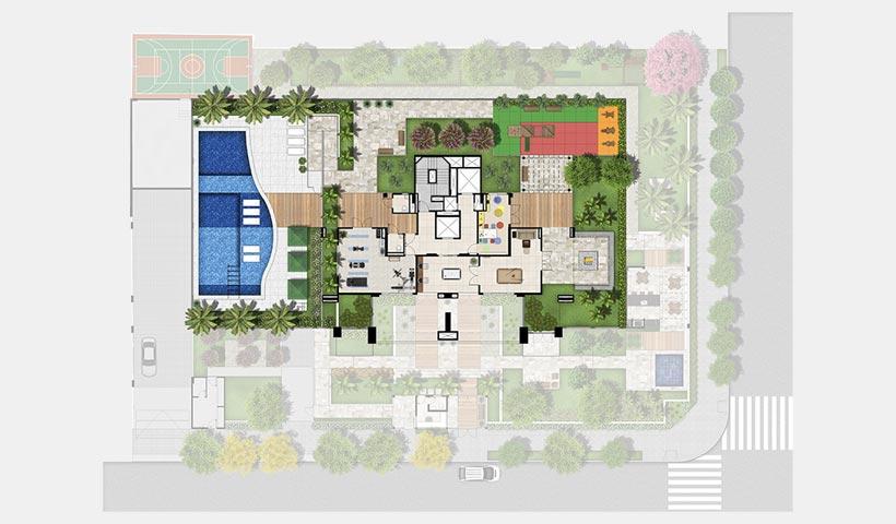 Gran Quadra Palazzo – Implantação 3 º pavimento