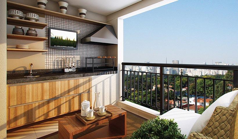 Gran Village SBC – Terraço de 70 m²