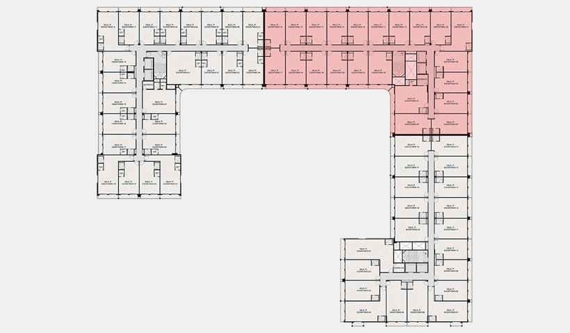 GreenWork – Ref localização Planta pavimento bloco B