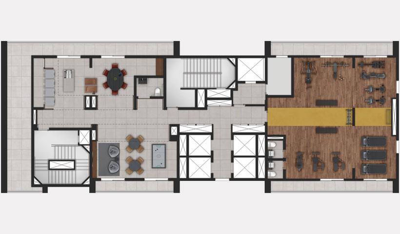 ID Jauperi – implantação do lazer 14º andar