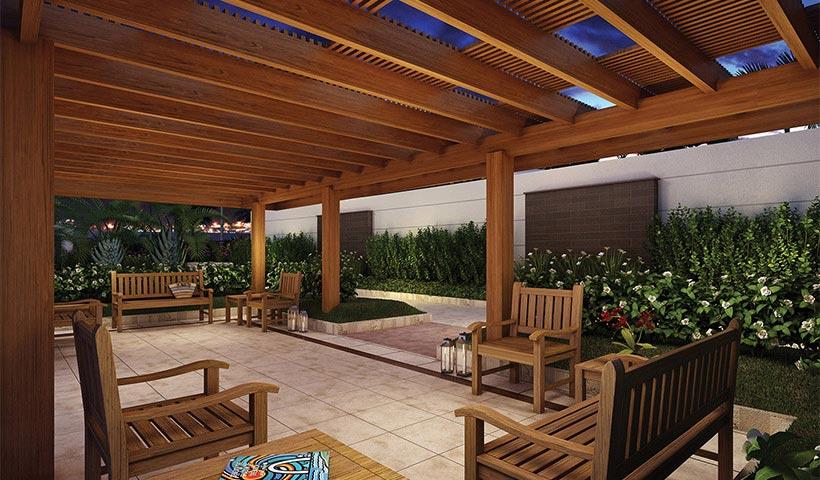 In Design Residence – Praça de apoio ao salão de festas