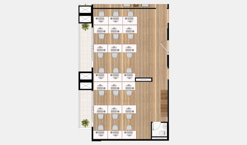 In Design Office – Planta da sala corte