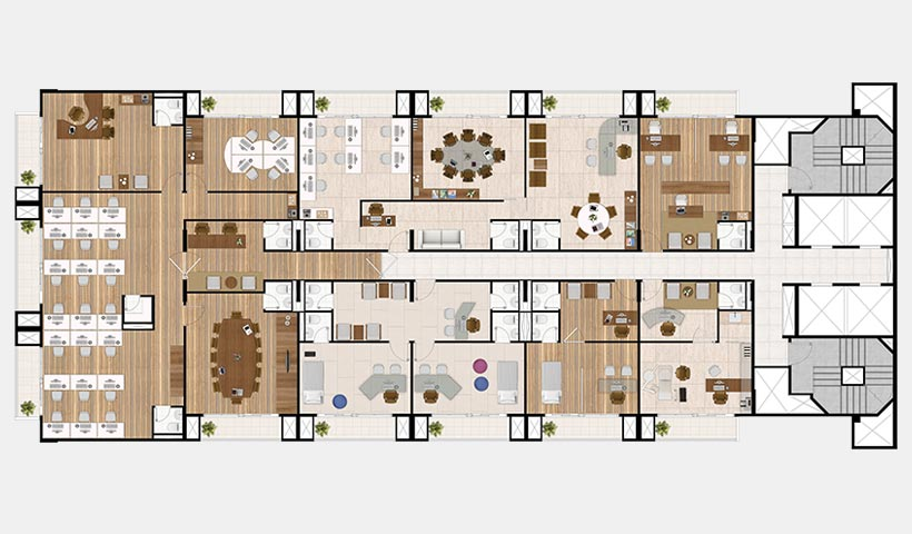 In Design Office – Planta pavimento decorada