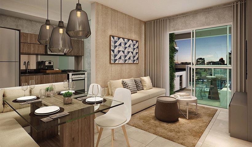 In Design Liberdade – Living de 65 m²