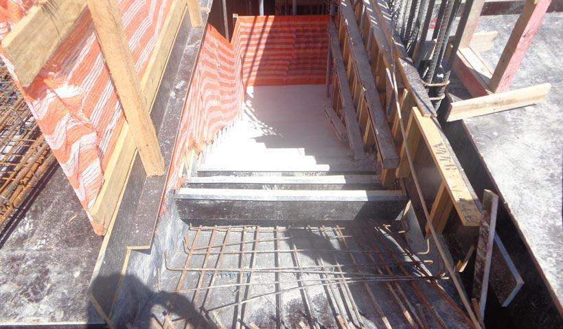Estrutura da escada