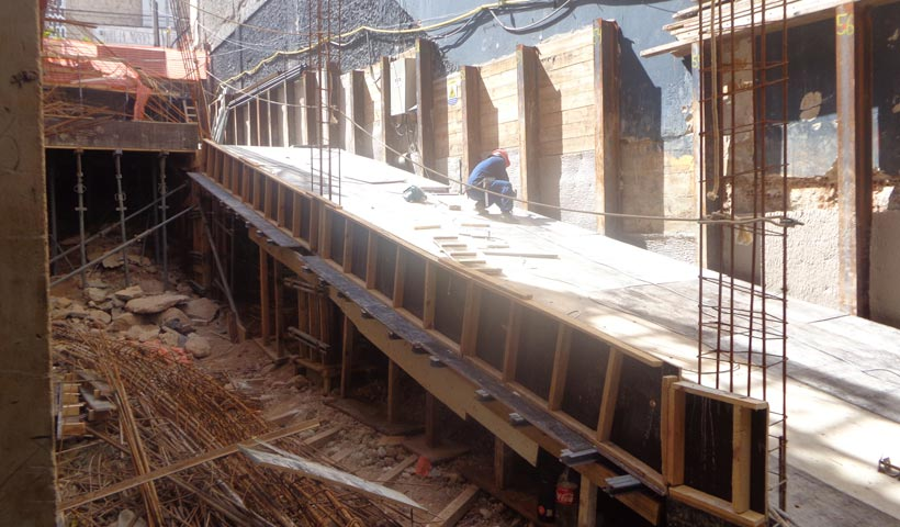 Estrutura da rampa