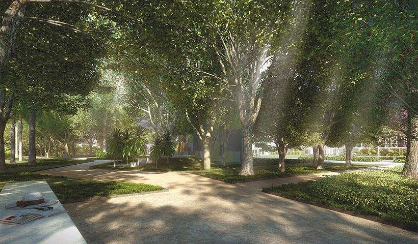 Jardins do Brasil Atlântica – Bosque – Praça central