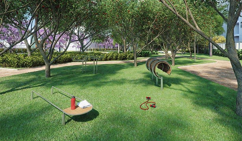 Jardins do Brasil Atlântica – Ginástica – Praça central