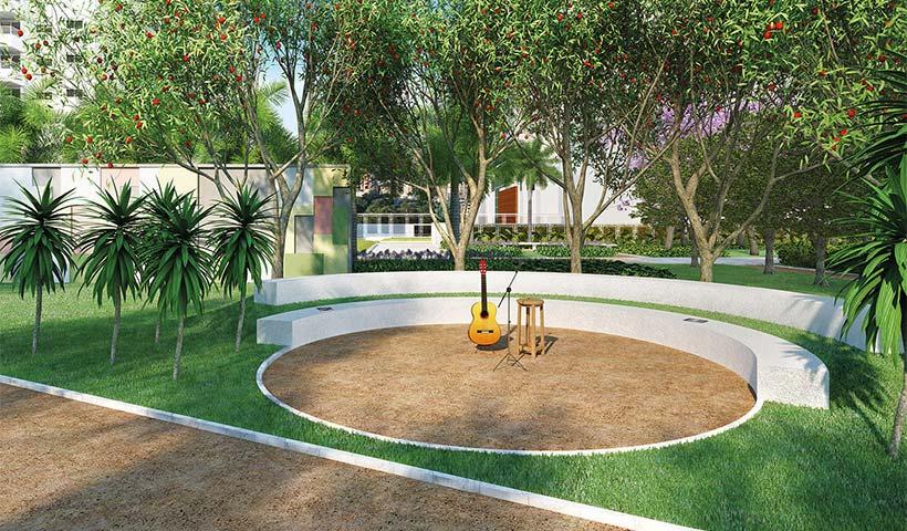 Jardins do Brasil Atlântica – Palco – Praça central