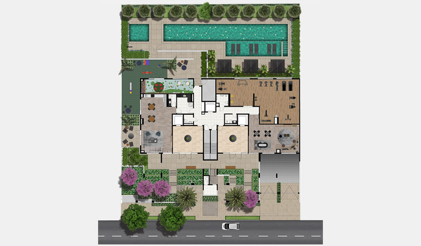 Le Jardin Ibirapuera – Implantação