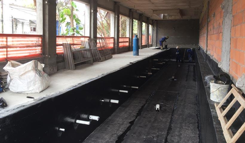 Impermeabilização piscina coberta