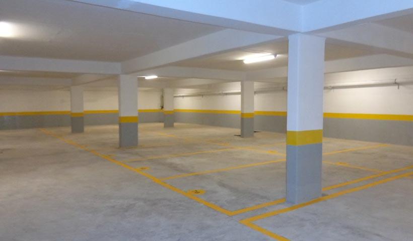 Garagem - pintura de vagas