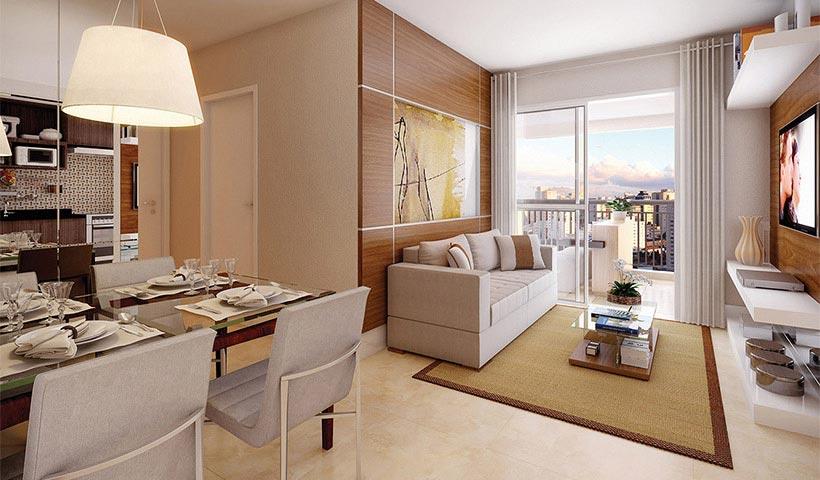 Magnífico Mooca – Living de 69 m²