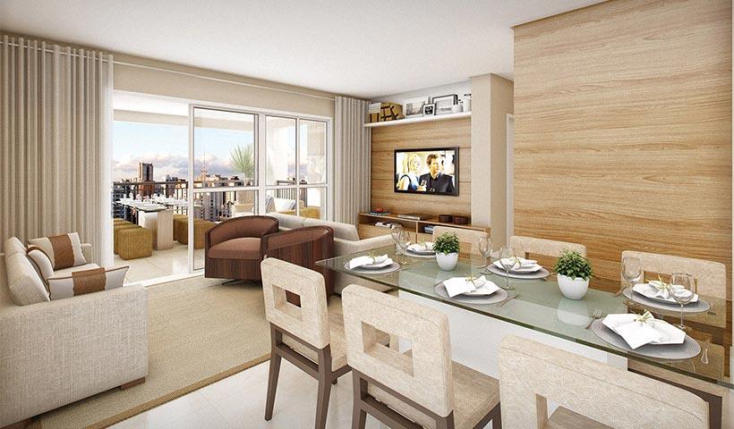Magnífico Mooca – Living de 85 m²