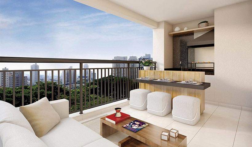 Magnífico Mooca – Terraço de 69 m²