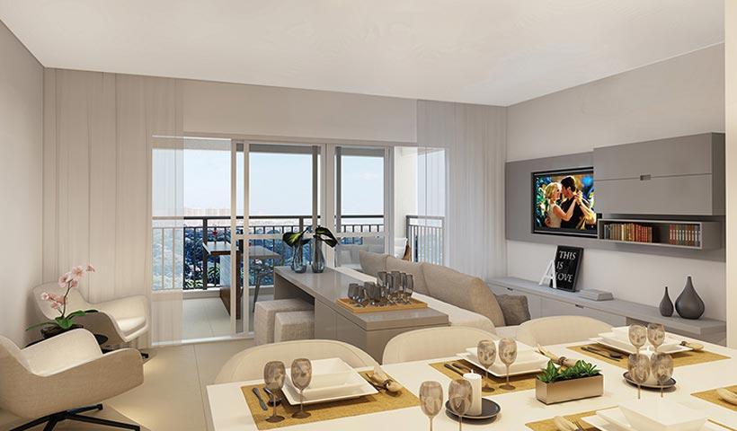 Massimo Vila Mascote – Living de 83 m²
