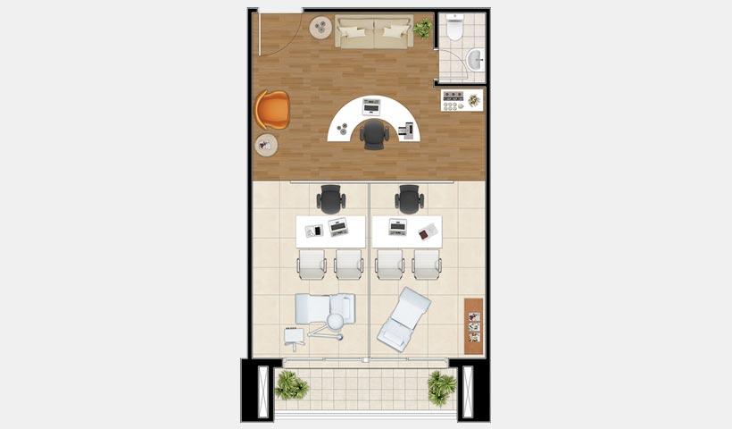 Neocorporate Offices – Planta do conjunto 11