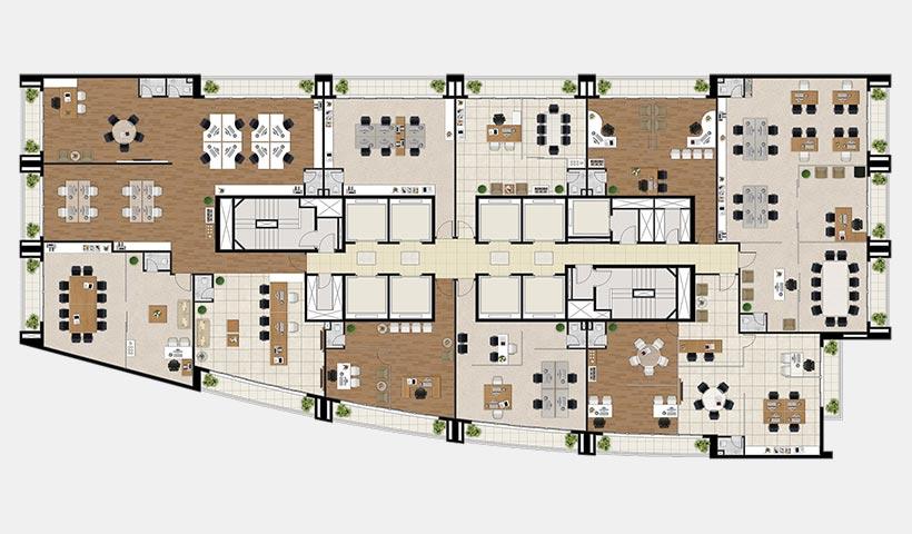 Neocorporate Offices – Planta 15º pavimento