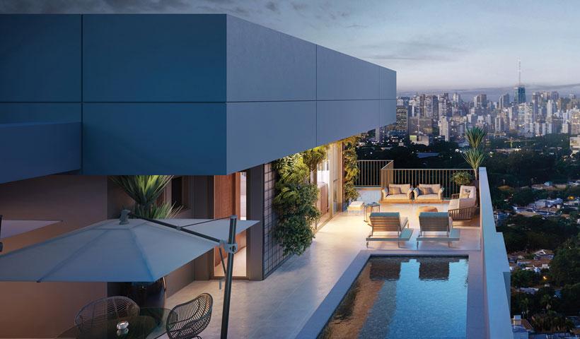 Pátrio Ibirapuera – Perspectiva Ilustrada do Voo Cobertura Duplex