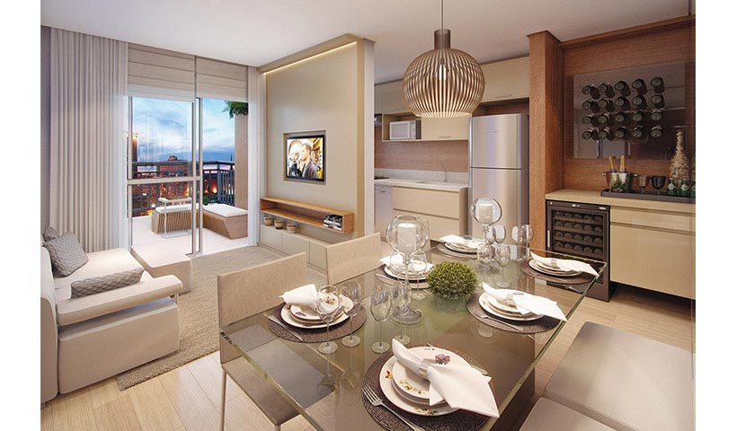 Prime House Parque Bussocaba – Living de 53 m²
