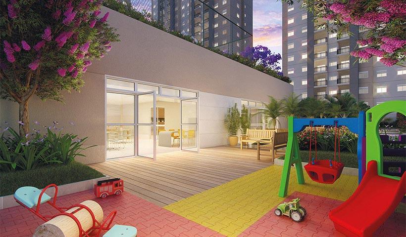 Prime House Parque Bussocaba - Praça de apoio ao salão de festas infantil