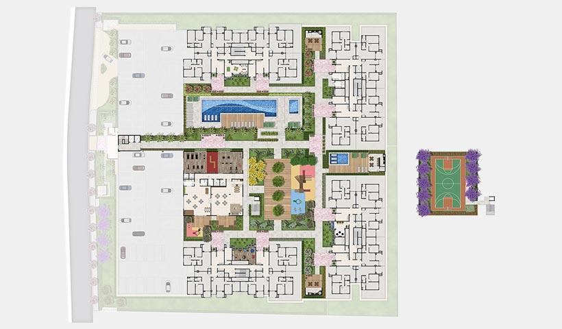 Prime House Parque Bussocaba – Implantação