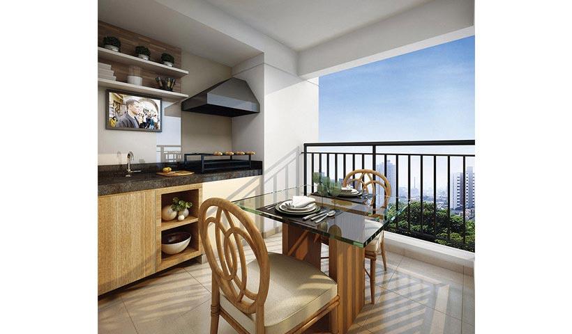 Prime House SBC – Terraço de 64 m²