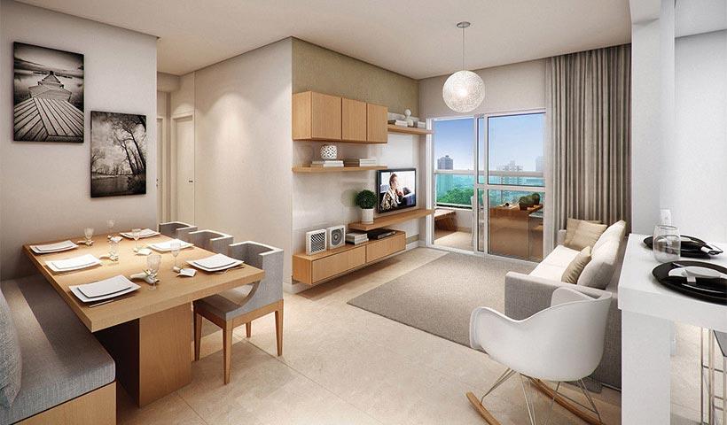 Quality House Ana Costa – Living de 63 m²
