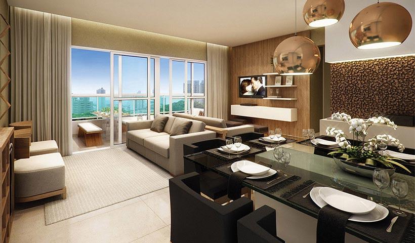 Quality House Ana Costa – Living de 88 m²