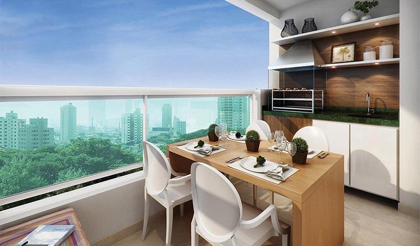 Quality House Ana Costa – Terraço de 63 m²