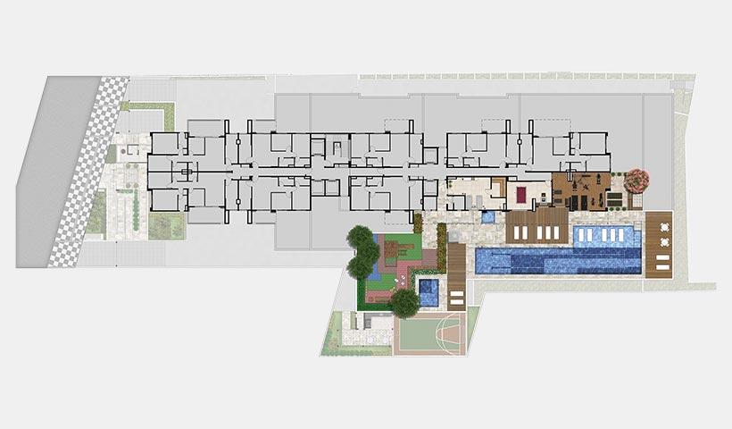 Quality House Ana Costa – Implantação 3 º pavimento