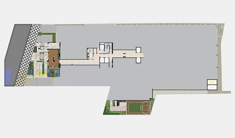 Quality House Ana Costa – Implantação térreo