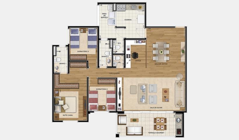 Quinta do Horto – Planta opção 130 m²