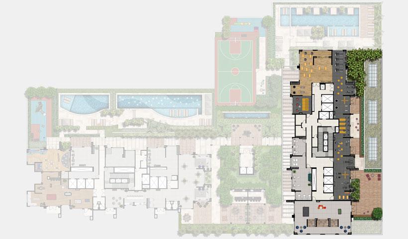 Reserva JB – Implantação Superior 6º pav. - Torre Royal Park