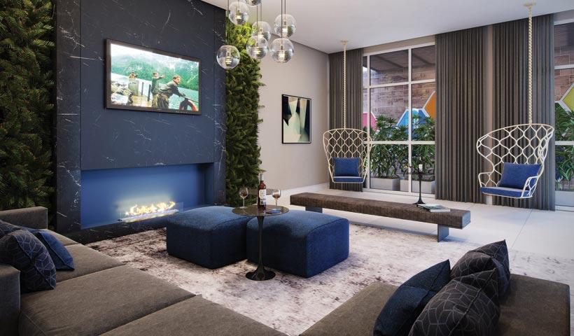 Sky House – Lounge salão de festas