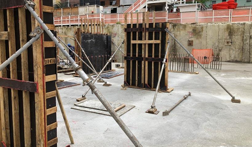 Torre - Laje do 1º Subsolo
