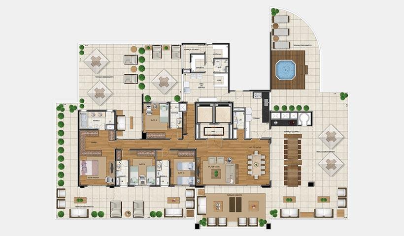 Sophis Ibirapuera – Planta 581 m²